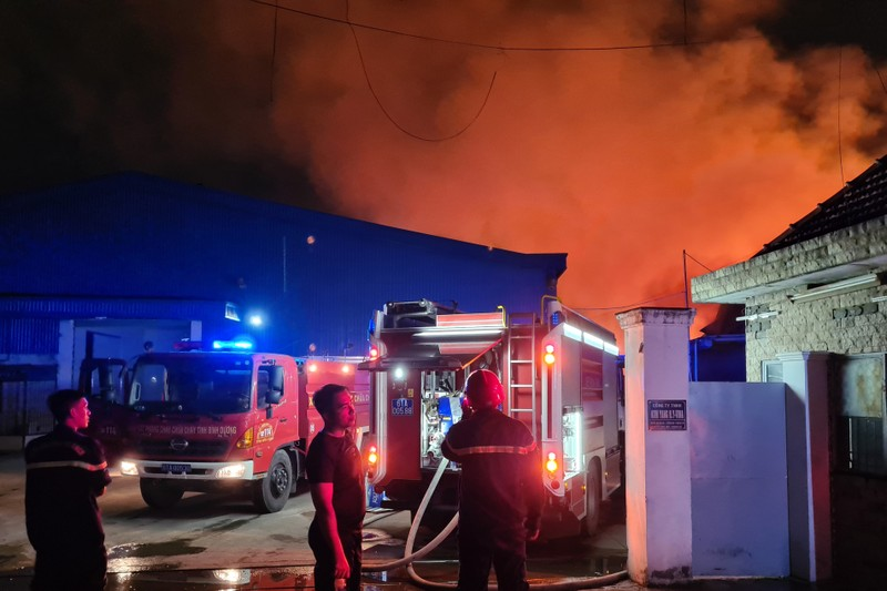 Toàn cảnh vụ cháy công ty sản xuất đồ gỗ tại Bình Dương - ảnh 3