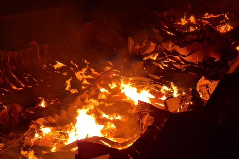 Toàn cảnh vụ cháy công ty sản xuất đồ gỗ tại Bình Dương - ảnh 2