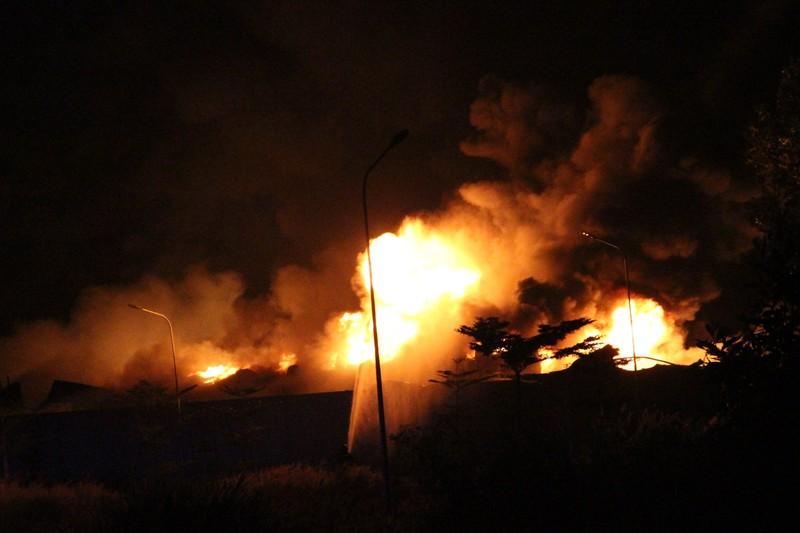 Bình Dương: Xưởng pallet cháy đỏ rực trong đêm - ảnh 2