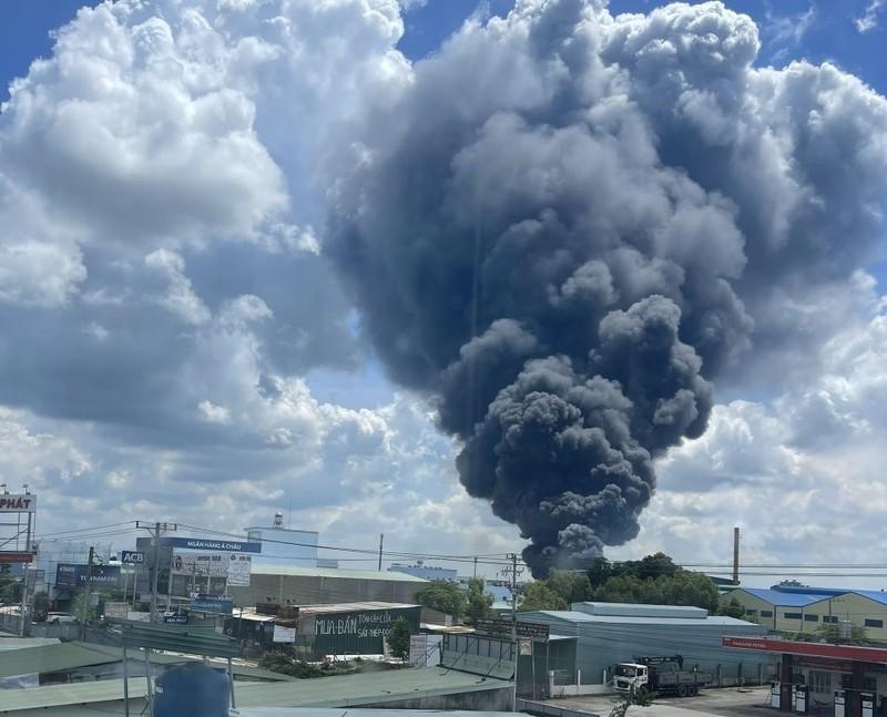 Cháy lớn tại công ty sản xuất mút xốp ở Bình Dương - ảnh 1