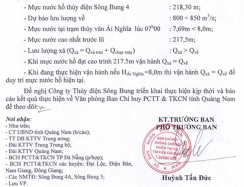 Quảng Nam: Các thủy điện đồng loạt xả lũ - ảnh 2