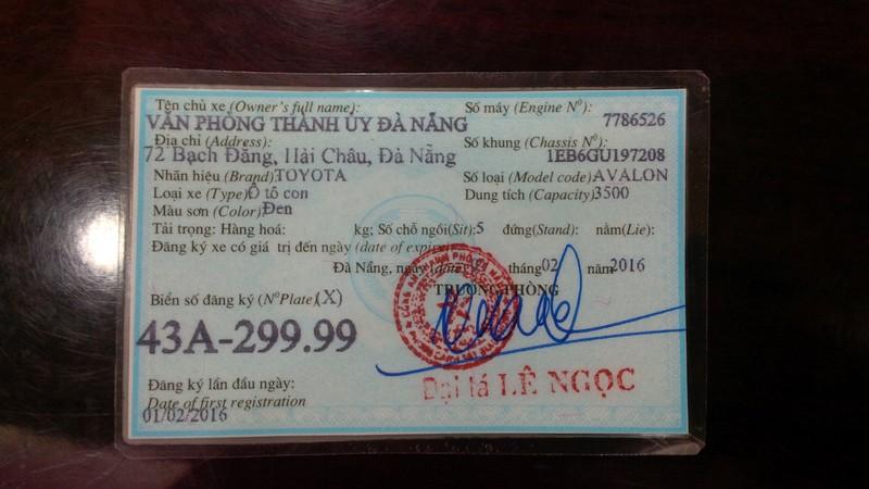 Bí thư Đà Nẵng bác bỏ thông tin đi xe biển số giả - ảnh 2