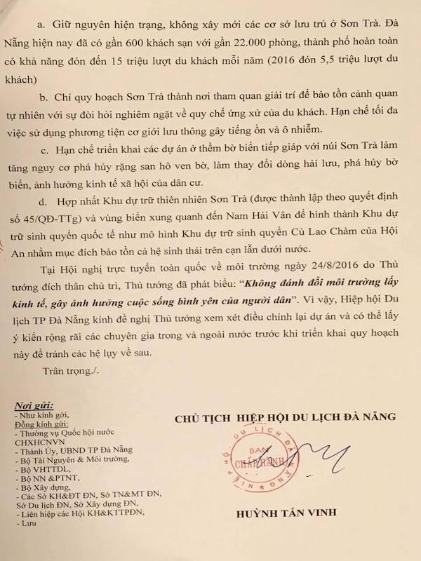 Gửi tâm thư tới Thủ tướng về số phận của Sơn Trà - ảnh 1