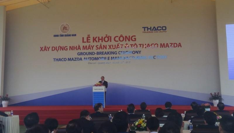 Khởi công Nhà máy ô tô THACO Mazda 520 triệu USD - ảnh 1