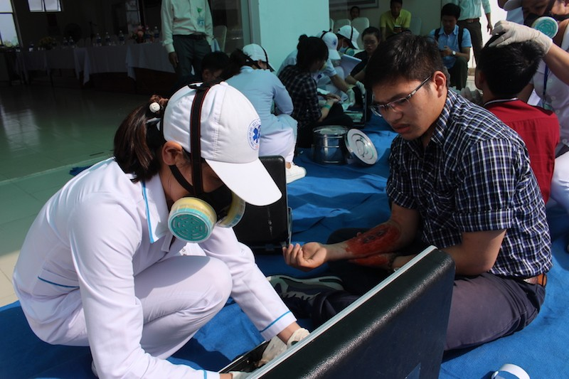 Diễn tập ứng phó với thảm họa phục vụ APEC - ảnh 3