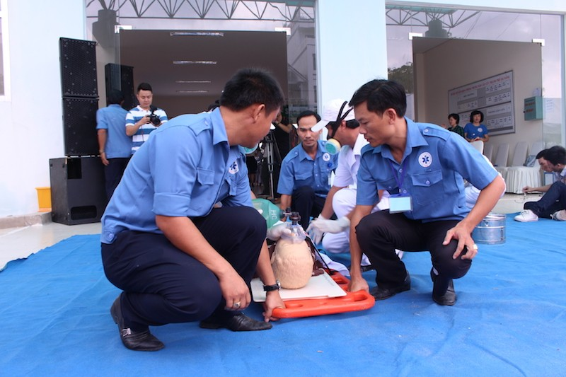 Diễn tập ứng phó với thảm họa phục vụ APEC - ảnh 4