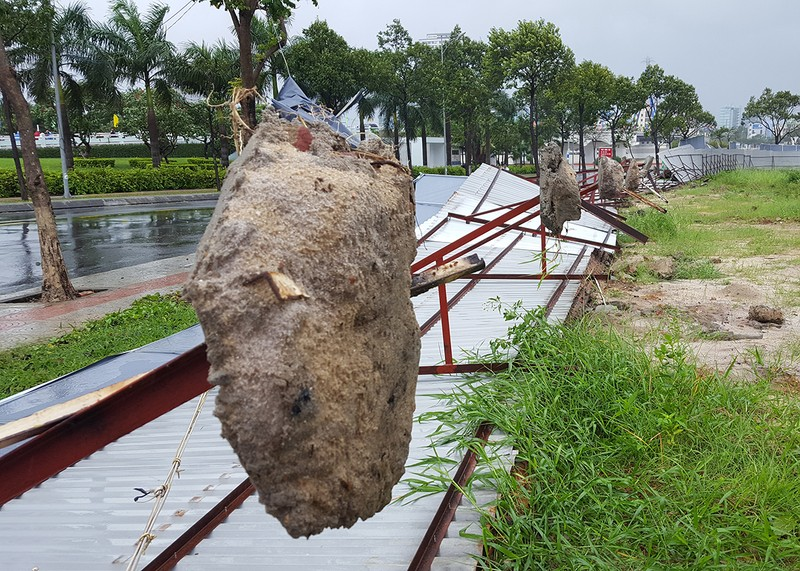 Đà Nẵng: Cổng chào, cây cối gãy ngã la liệt do bão  - ảnh 6