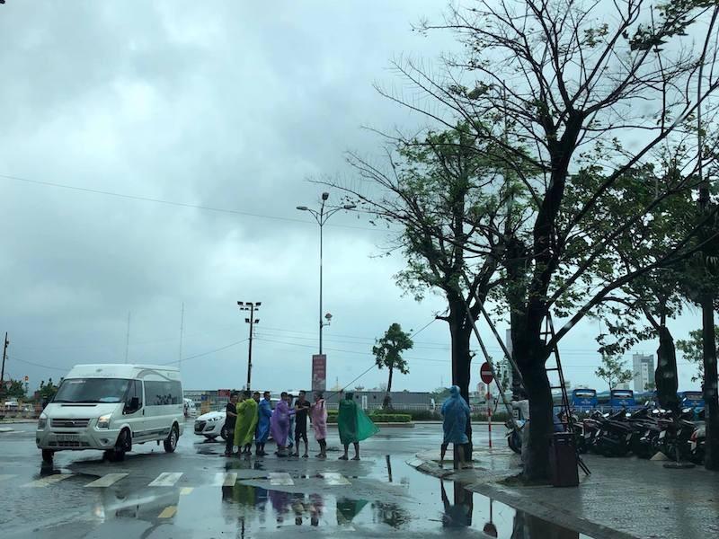 Đà Nẵng: Đội mưa gió khắc phục hậu quả bão số 12 - ảnh 6