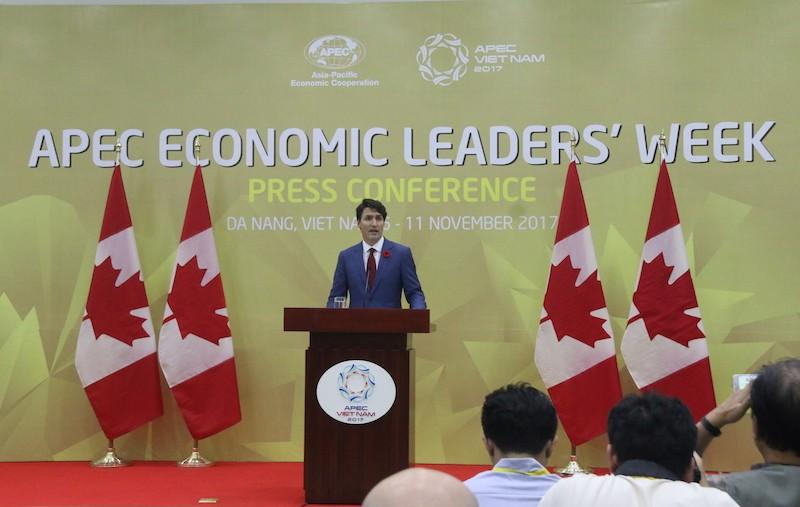 Thủ tướng Canada nói về việc vắng mặt tại cuộc họp TPP  - ảnh 1