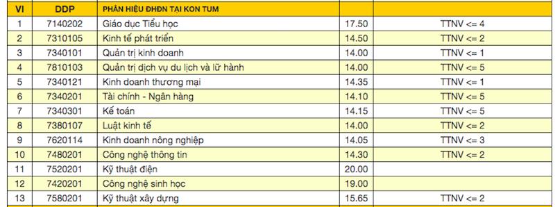 Đại học Đà Nẵng công bố điểm trúng tuyển đợt 1 - ảnh 2