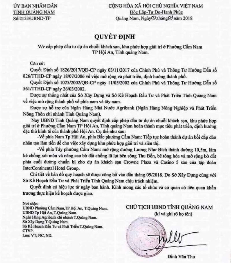 Giả chữ ký của chủ tịch tỉnh để thổi giá đất - ảnh 1