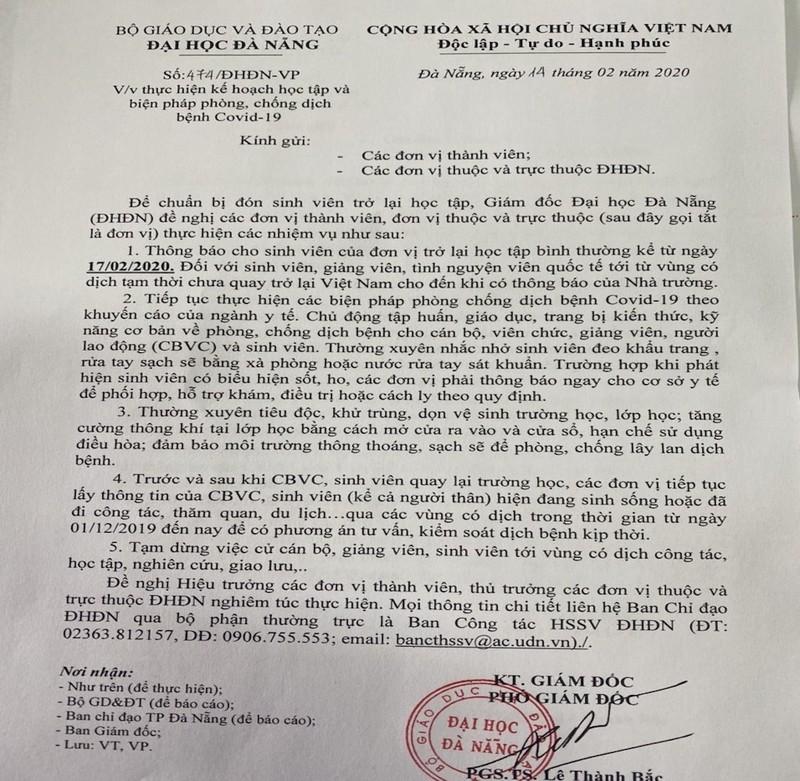 Sinh viên Đà Nẵng sẽ đi học lại từ ngày 17-2 - ảnh 1