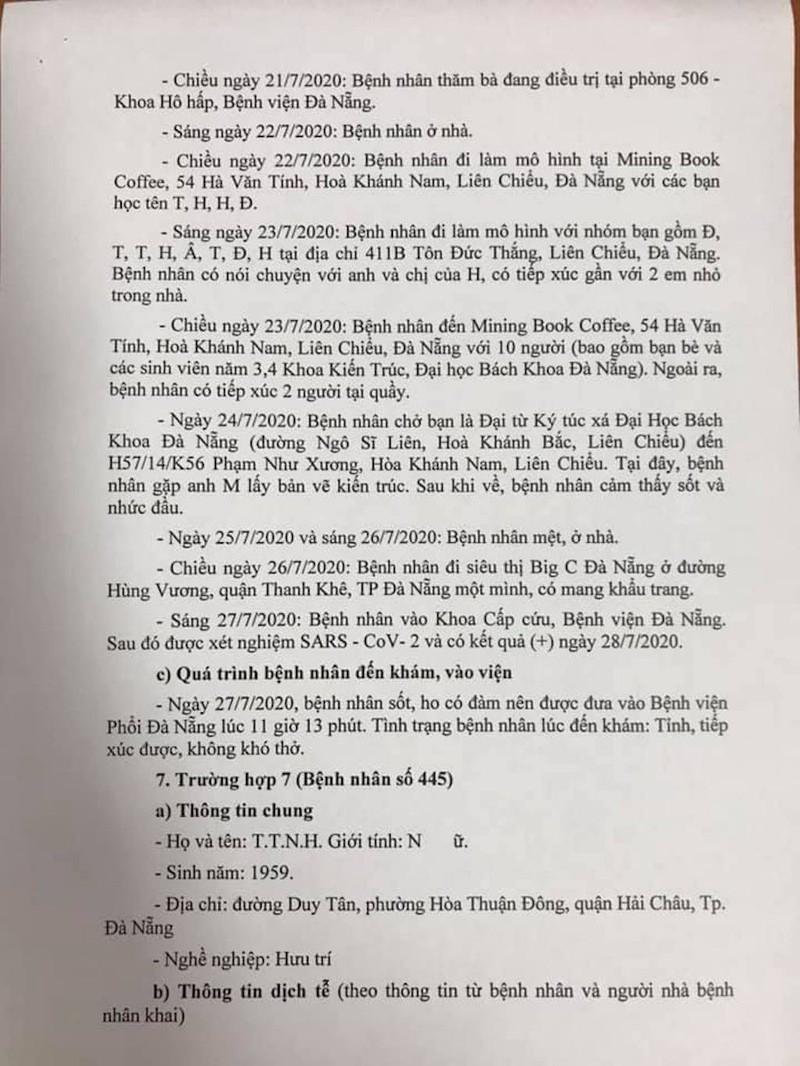Lịch trình di chuyển của 8 ca nhiễm COVID-19 ở Đà Nẵng - ảnh 5