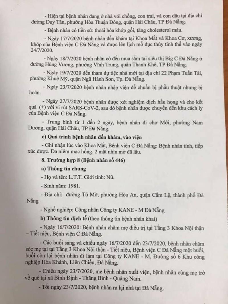 Lịch trình di chuyển của 8 ca nhiễm COVID-19 ở Đà Nẵng - ảnh 6