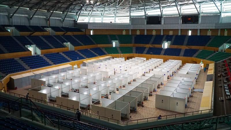 Bệnh viện dã chiến Tiên Sơn 2.000 giường trước giờ bàn giao - ảnh 1