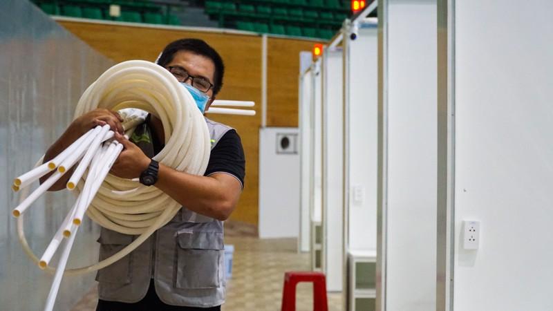 Bệnh viện dã chiến Tiên Sơn 2.000 giường trước giờ bàn giao - ảnh 4
