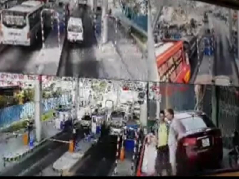 Xử phạt tài xế đậu xe quá 5 phút tại trạm BOT - ảnh 1