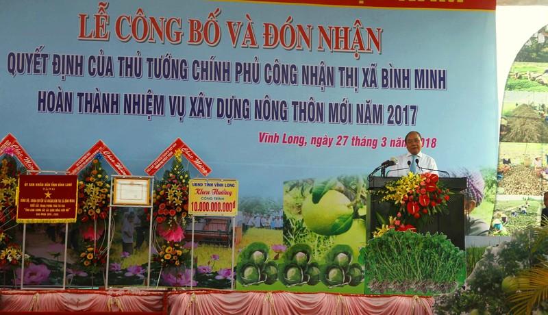 Thị xã đầu tiên Vĩnh Long được công nhận nông thôn mới - ảnh 1