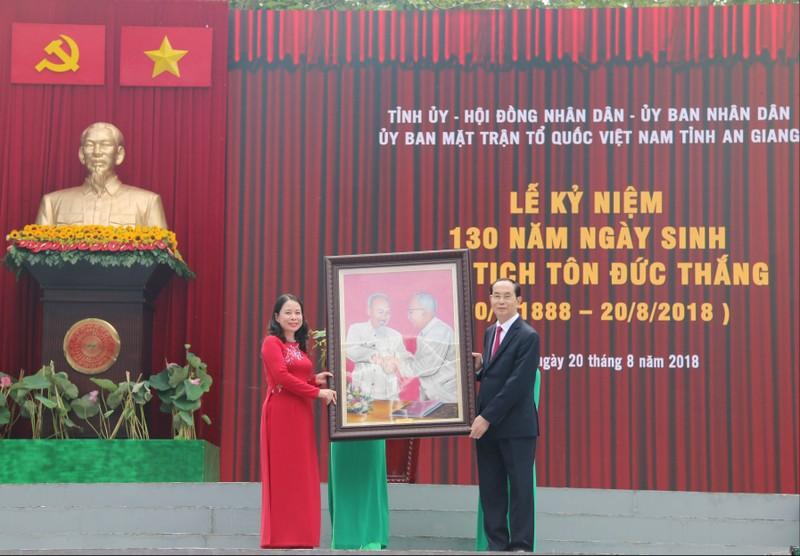 Chủ tịch nước dự lễ kỷ niệm 130 năm ngày sinh Bác Tôn - ảnh 3