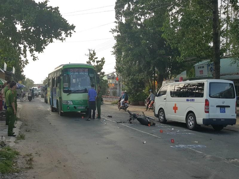 Va chạm xe buýt, 1 thanh niên tử vong - ảnh 1