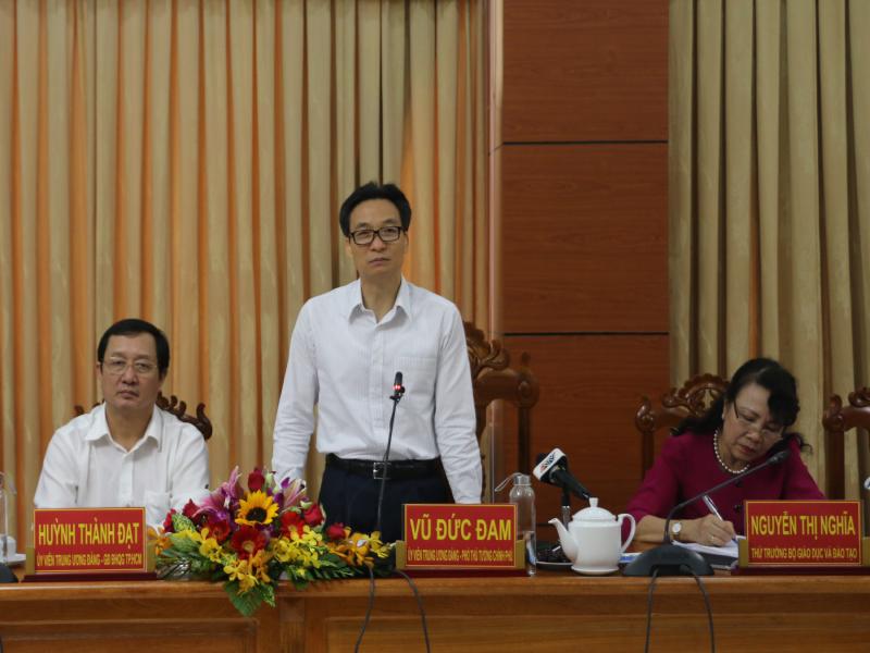 Phó Thủ tướng Vũ Đức Đam làm việc với tỉnh An Giang - ảnh 1