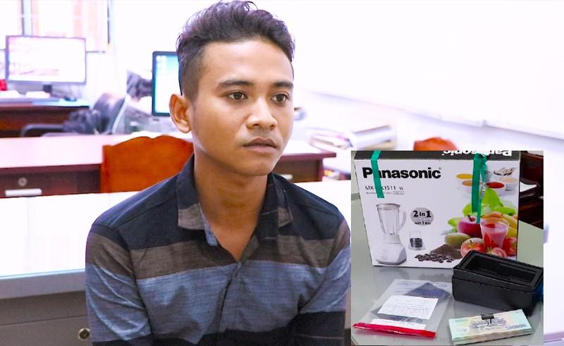 Thanh niên trộm tiền của chùa đi mua điện thoại  - ảnh 1