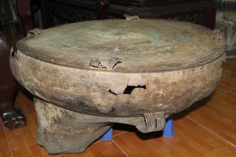 Ngư dân phát hiện trống đồng trên sông Cổ Chiên - ảnh 1