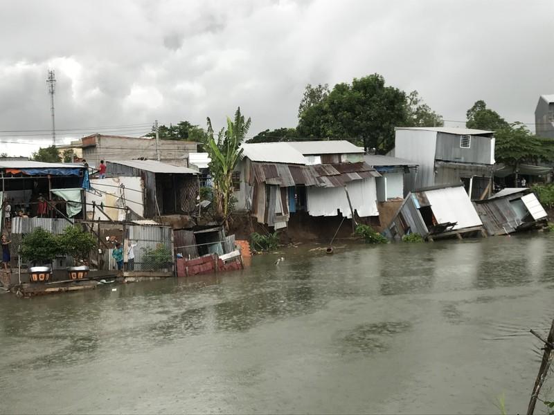 Lại sạt lở ở An Giang, 15 nhà dân phải di dời - ảnh 1