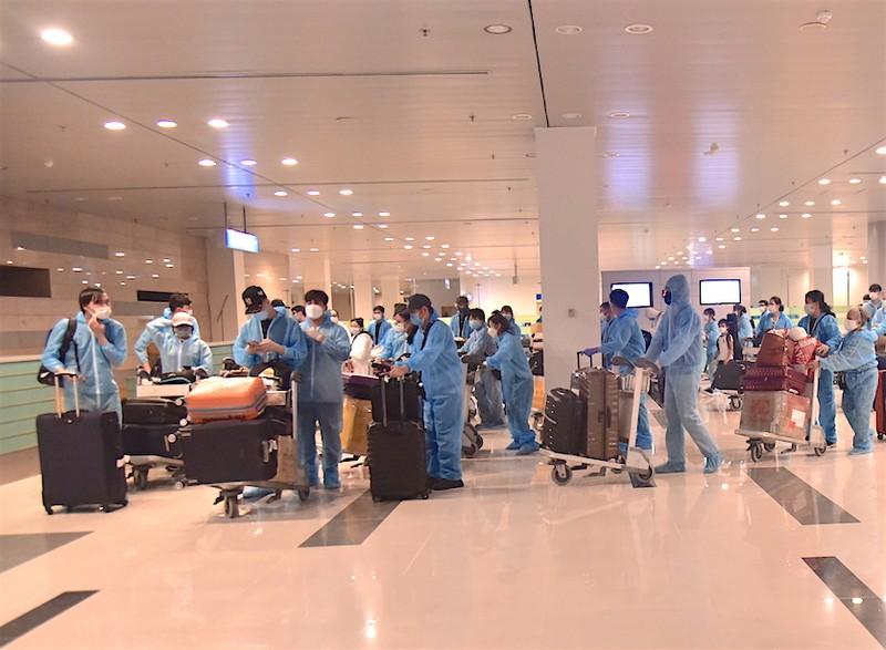 309 công dân Việt Nam từ Singapore nhập cảnh ở sân bay Cần Thơ - ảnh 1