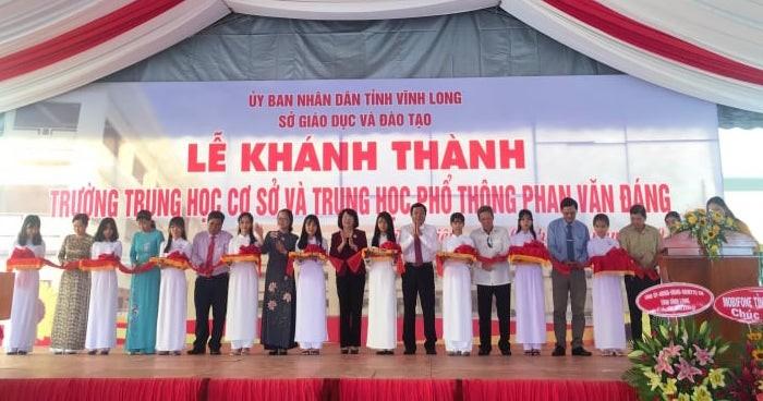 Phó Chủ tịch nước dự khai giảng ở Vĩnh Long - ảnh 1