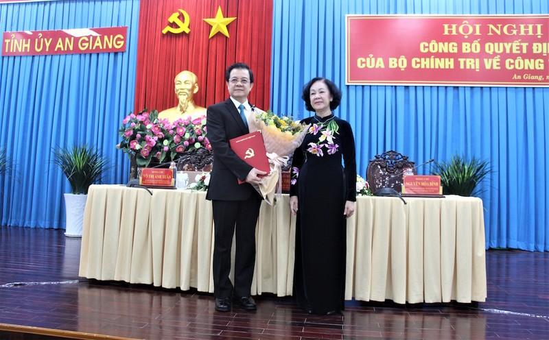 Ông Lê Hồng Quang làm Bí thư Tỉnh ủy An Giang - ảnh 1