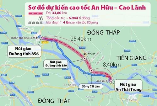Đồng Tháp kiến nghị nối dài tuyến cao tốc An Hữu – Cao Lãnh thêm 4km - ảnh 1