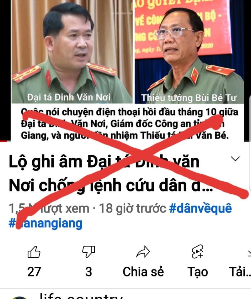 Khởi tố vụ clip ghép giọng nói đại tá Đinh Văn Nơi ở An Giang - ảnh 1