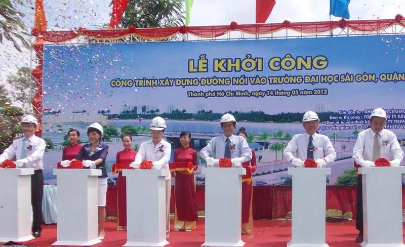 Khởi công đường D1 giảm ùn tắc cho đường Nguyễn Hữu Thọ - ảnh 3
