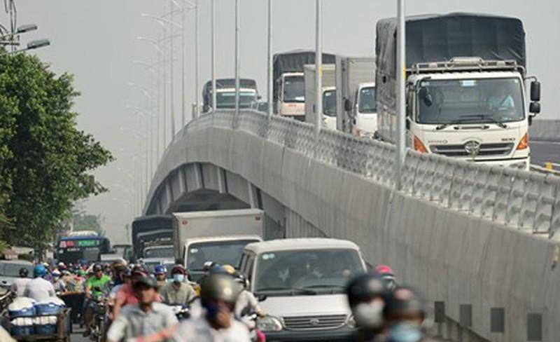 Hoàn thành, thông xe toàn bộ cầu vượt Gò Mây - ảnh 4