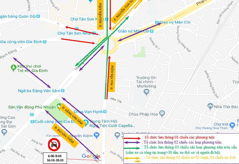 Thông xe nhánh cuối cầu vượt ngã 7 Nguyễn Thái Sơn  - ảnh 2