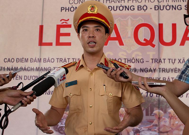 Trung tá Huỳnh Trung Phong được bổ nhiệm làm Trưởng phòng PC67. Ảnh: LÊ THOA