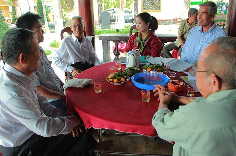 'Ngồi uống trà ở đình Tân Thông lại nhớ bác Khải' - ảnh 1