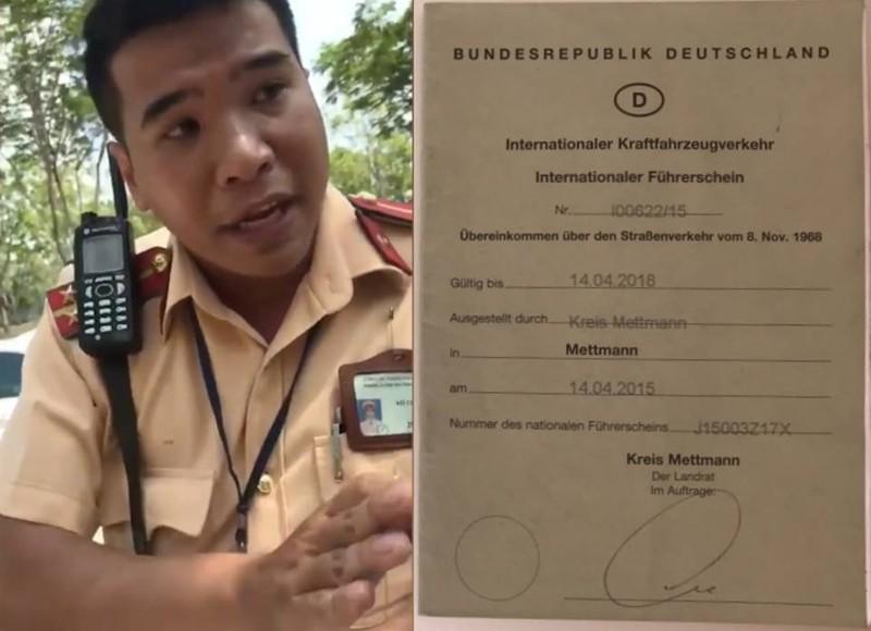PC67 thông tin vụ CSGT Cát Lái từ chối bằng lái quốc tế - ảnh 1