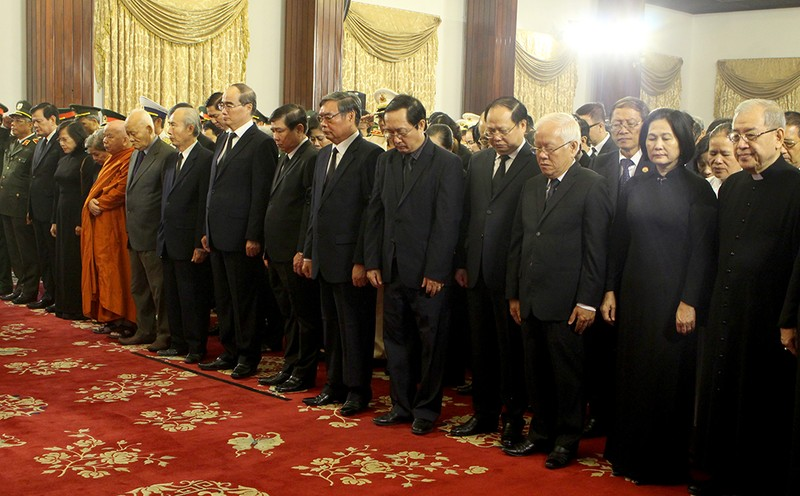 Trang nghiêm lễ truy điệu cố Tổng Bí thư Đỗ Mười tại TP.HCM - ảnh 3
