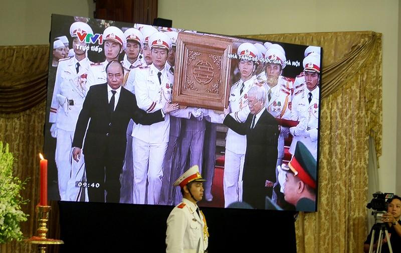 Trang nghiêm lễ truy điệu cố Tổng Bí thư Đỗ Mười tại TP.HCM - ảnh 5