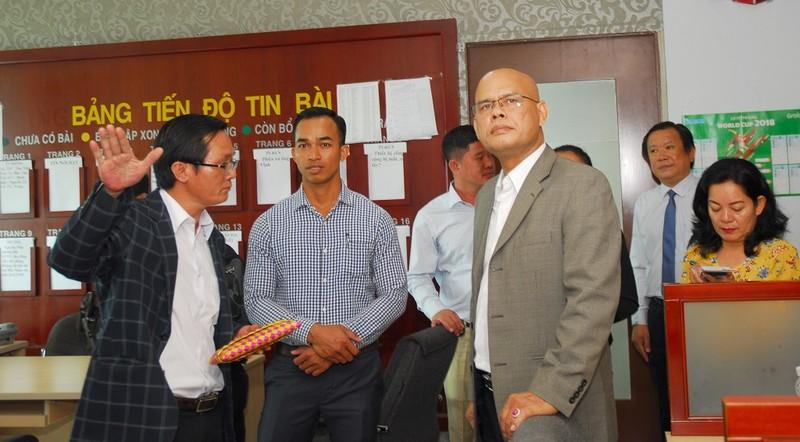 Đoàn báo chí Campuchia thăm, làm việc với báo Pháp Luật TP.HCM - ảnh 4