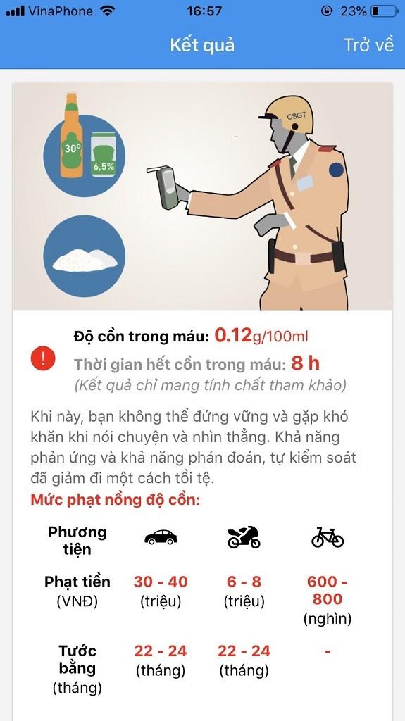 TP.HCM: Dân có thể tự kiểm tra nồng độ cồn bằng app - ảnh 1