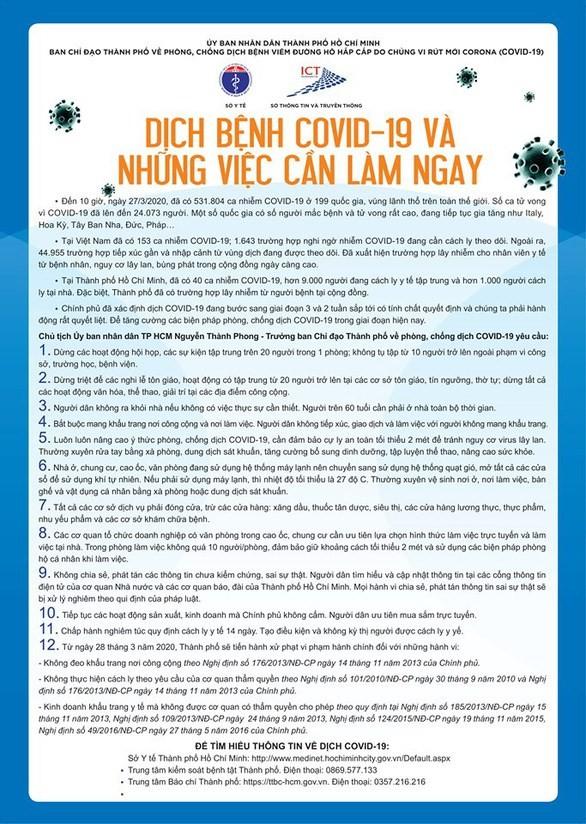 12 việc cần làm ngay trong 14 ngày vàng chống dịch  - ảnh 1