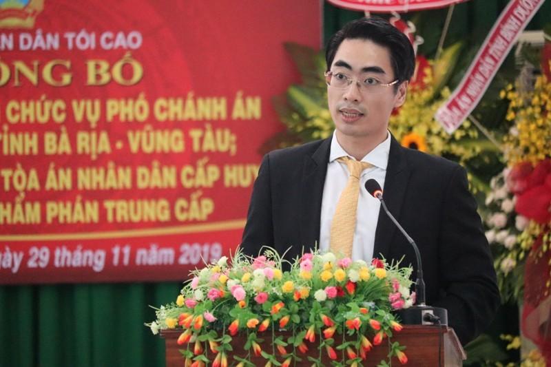 TAND tỉnh Bà Rịa-Vũng Tàu có phó chánh án 36 tuổi - ảnh 1