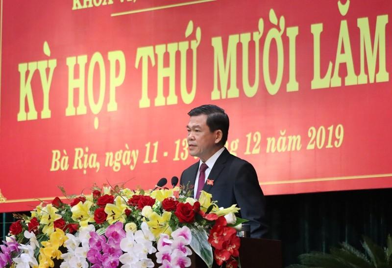HĐND tỉnh Bà Rịa-Vũng Tàu thông qua 4 nghị quyết về nhân sự - ảnh 1