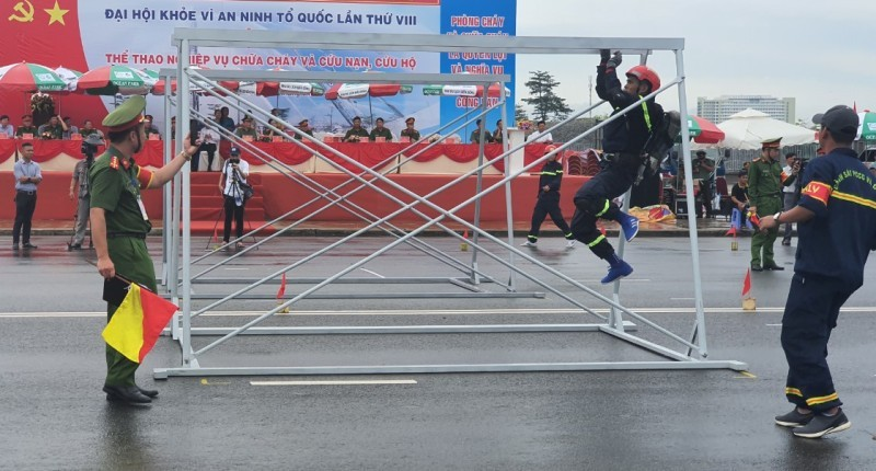 Bà Rịa - Vũng Tàu đạt giải Nhất hội thao Nghiệp vụ chữa cháy - ảnh 1