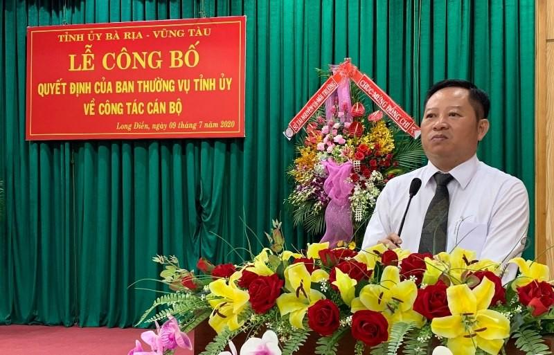 Bà Rịa- Vũng Tàu: Giám đốc Sở TN&MT làm Bí thư huyện Long Điền - ảnh 1