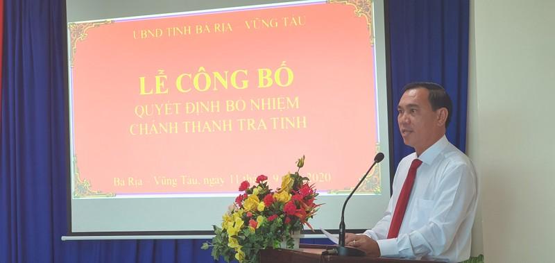 Phó ban Nội chính làm Chánh Thanh tra tỉnh Bà Rịa- Vũng Tàu - ảnh 1