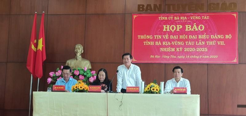 Thông tin về ĐH Đại biểu Đảng bộ tỉnh Bà Rịa-Vũng Tàu lần VII  - ảnh 1